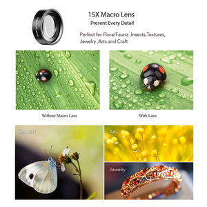 Image 3 - APEXEL 52mm 9in1 Full filter Lens Kits 0.45x wide+15x macro Lens 7in1 Full Blue Red Color Filter+CPL ND Star Filter for phones