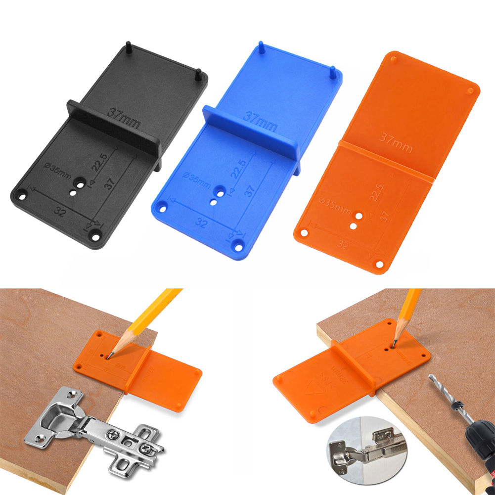 35/40mm Hole Locator Cabinets Tool Door Woodworking Punch Hinge Drill Hole Opener Drill Bit Guide Drill Hole Woodworking Tools