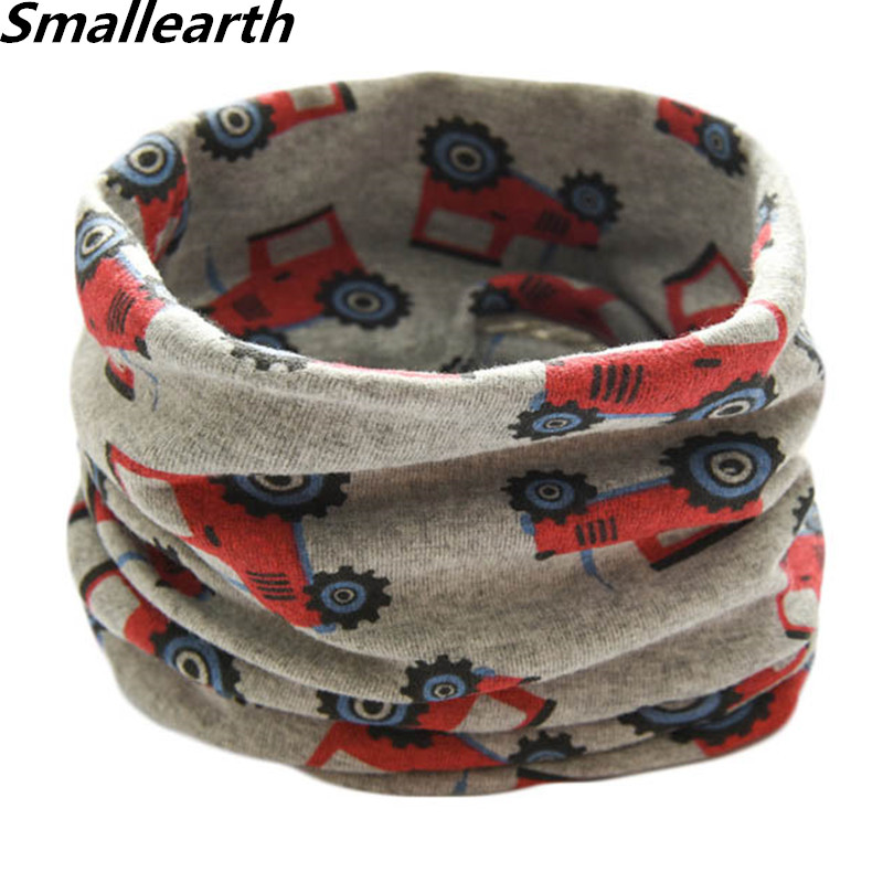2019 Autumn Winter Children Cotton Scarf Baby Kids Warm Scarf Boys Girls Cartoon Scarves Child Collar O Ring Magic Neckerchief