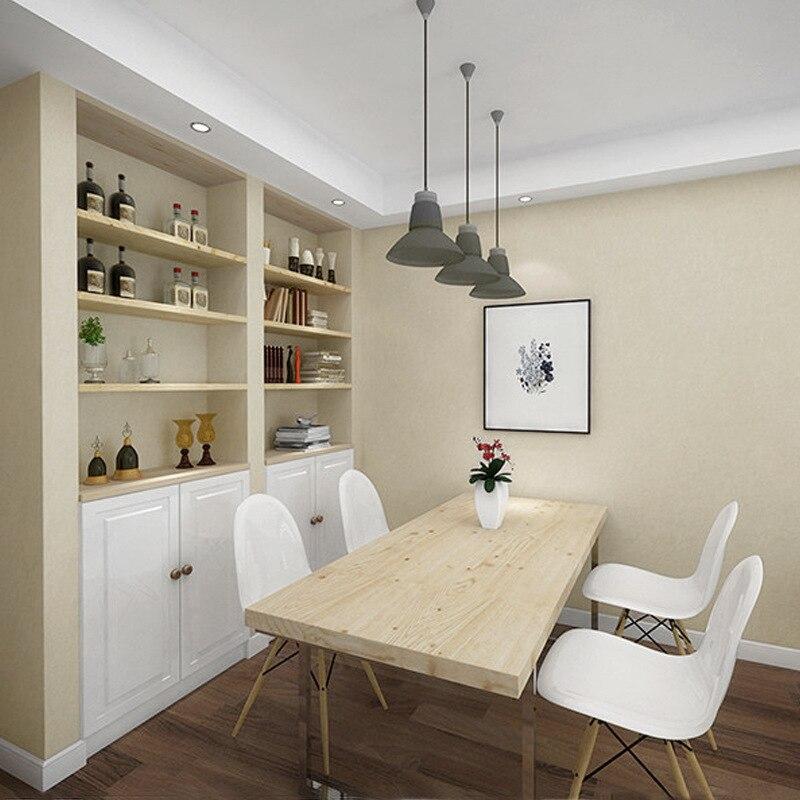 Solid Color Wallpaper Modern Minimalist Bedroom Plain Color Living Room Studio Restaurant Background Nordic Wood Color Wallpaper