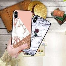 Luxury Marble Granite Stone Texture Case For iPhone 7 case iPhone X XS XR MAX 8 6 6S Plus 5 5s SE Etui Coque Black Soft Silicone чехол обложка iphone 6s plus silicone case stone mkxn2zm a
