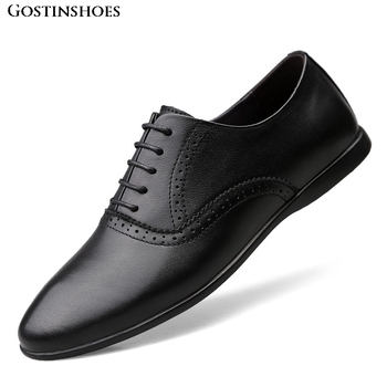 Brogue Shoes For Zapatos Full Grain Leather Men Shoes Casual Shoes Business Shoes