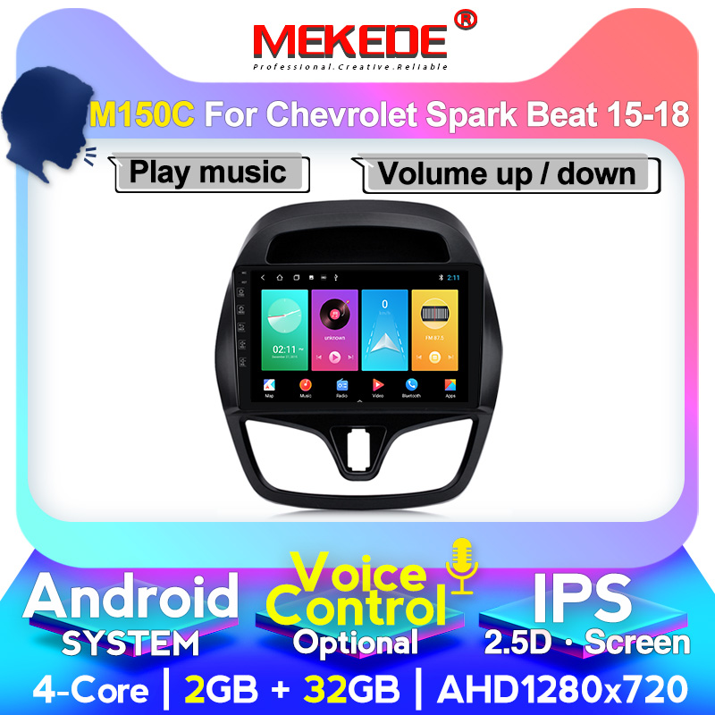 MEKEDE 4G RAM Android System For <font><b>CHEVROLET</b></font> <font><b>Spark</b></font> Beat 2015 2016 <font><b>2017</b></font> 2018 Multimedia Stereo Car DVD Player Navigation GPS Radio image