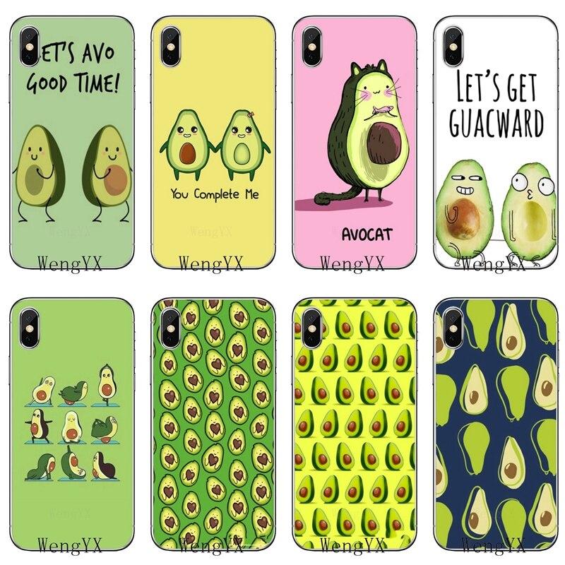 Cartoon Avocado Fruits Peach For Oneplus 3T 5T 6T LG G5 G6 G7 Q6 Q7 Q8 Q9 V20 V30 X Power 2 3 K4 K8 K10 2017 Cover Case