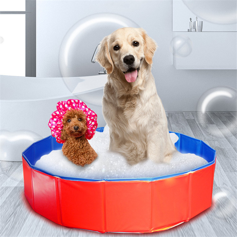 Collapsible Bathing Pool for Dogs Cats Foldable Dog Pool font b Pet b font Bath Inflatable