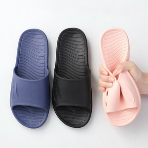 Men Summer Home Slippers Simple Black Navy Shoes Non-Slip Bathroom Slides Flip Flops Couples Indoor Male Platform Slippers