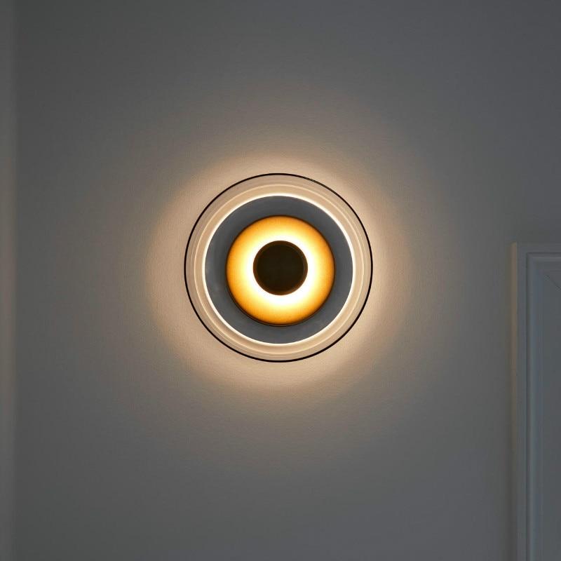 Nordic Glass Wall Lamp Bedroom Bedside Sofa Golden Wall Lamp Study Designer Model Room Decor Home Wall Lamp Luminaria De Parede - 6