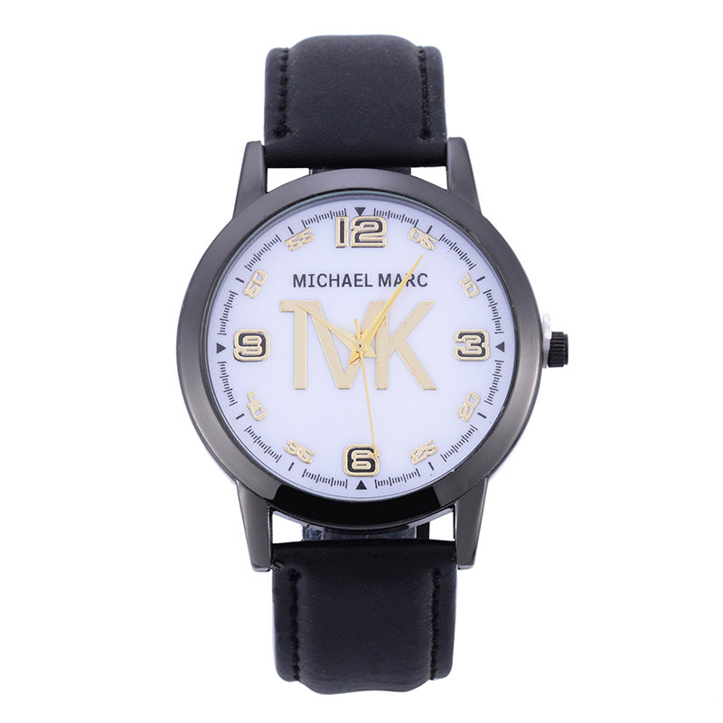Top Brand TVK High Quality Fashion Womens Ladies Simple Watches MK Analog Faux Leather Quartz Wrist Watch Unisex Gift