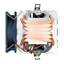 Pure 6 Copper Pipes CPU Cooler 4Pin PWM blue red colorful work quiet for Intel AM4/AM2/AM2+/AM3/AM3+/FM1/FM2 CPU Cooling Fan кулер id cooling se 214l r intel lga 2011 1366 1151 1150 1155 1156 amd fm2 fm2 fm1 am4 am3 am3 am2 am2