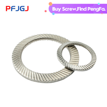 Peng Fa 304 Lock Washer DIN9250 Stainless Steel Double-sided Tooth Butterfly Anti-slip Mat M3-M20
