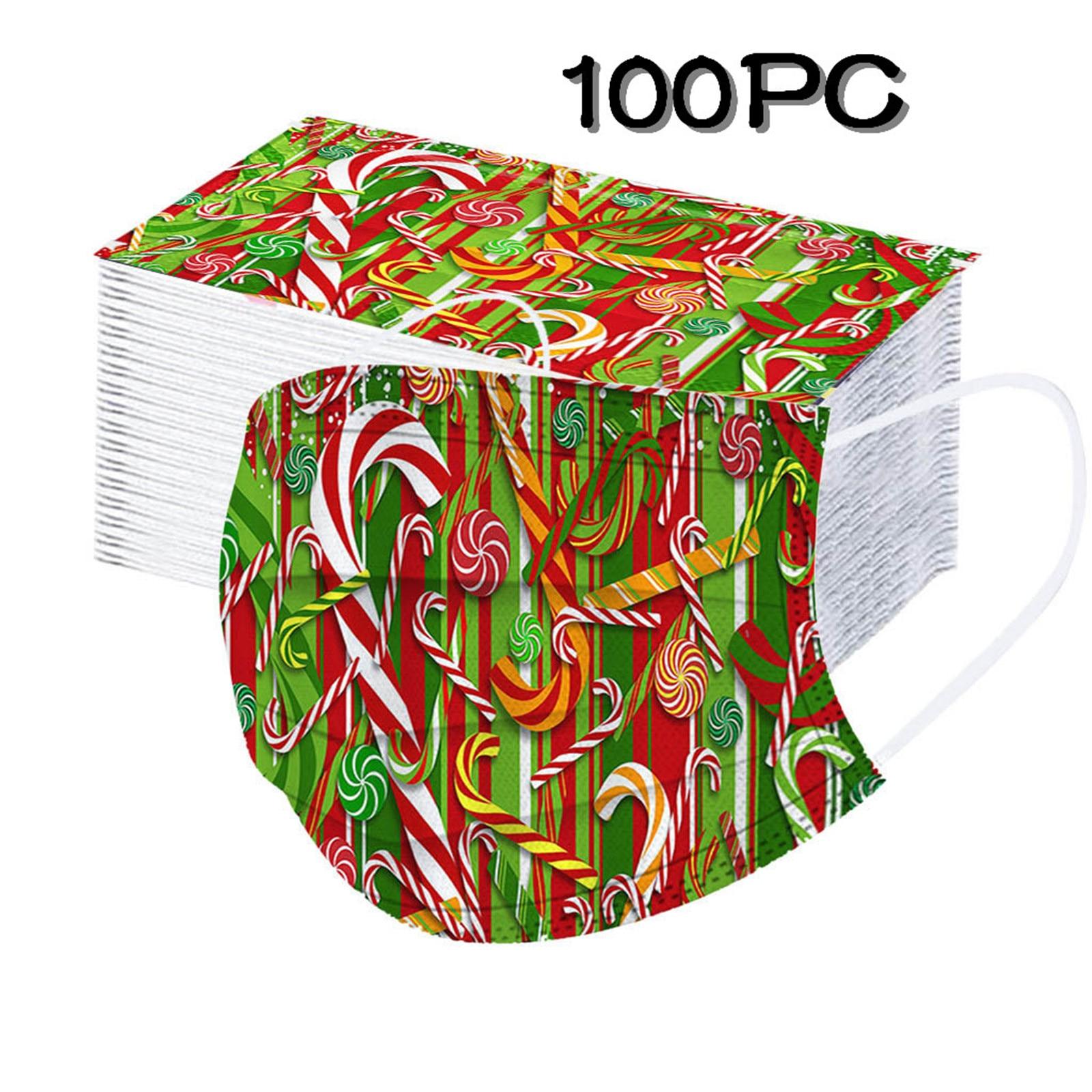 Kerstmondkapjes groen 100 stuks