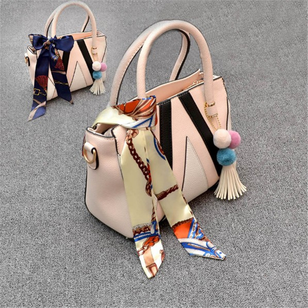 New Silk Small Women Fashion Scarf Hair Band Bags Handle Decoration Tie Multifunction Hand Ribbon Scarf Multifunctional