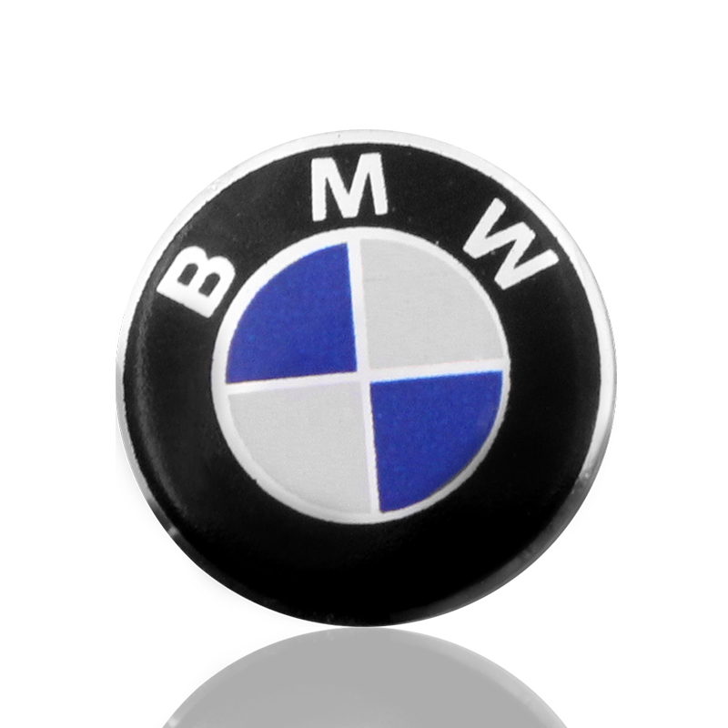 1PCS 14mm Car Key Sticker Car Badge Decoration Sticker For Bmw E46 E90 E60 E39 F30 E36 F10 F20 E87 E92 E30 E34 X1 X3 Accessories