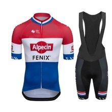ALPECIN FENIX Men Cycling Clothing Team Jersey Set 2021 Summer Short Sleeve Bicycle Uniform Maillot Culotte