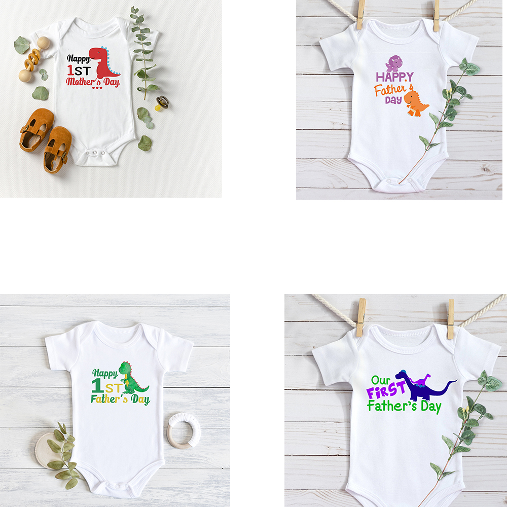 First Fathers Day Mothers Day Baby Dinosaur Bodysuit Dinosaur Outfits 1st Mothers Day Gift From Son To Mom