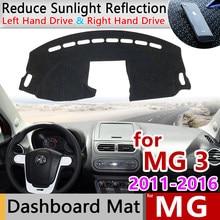 Dla MG 3 2011 2012 2013 2014 2015 2016 Anti-slipmata pokrywa deski rozdzielczej Pad parasolka Dashmat dywan Anti-UV akcesoria samochodowe dla MG3