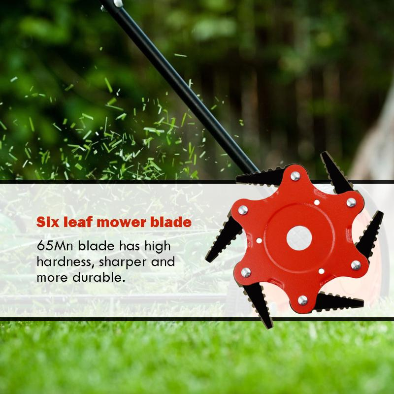 65Mn Manganese Steel Brush Cutter Blade 6 Teeth Durable Grass Trimmer Head Lawn Weeding Garden Tools Accessories
