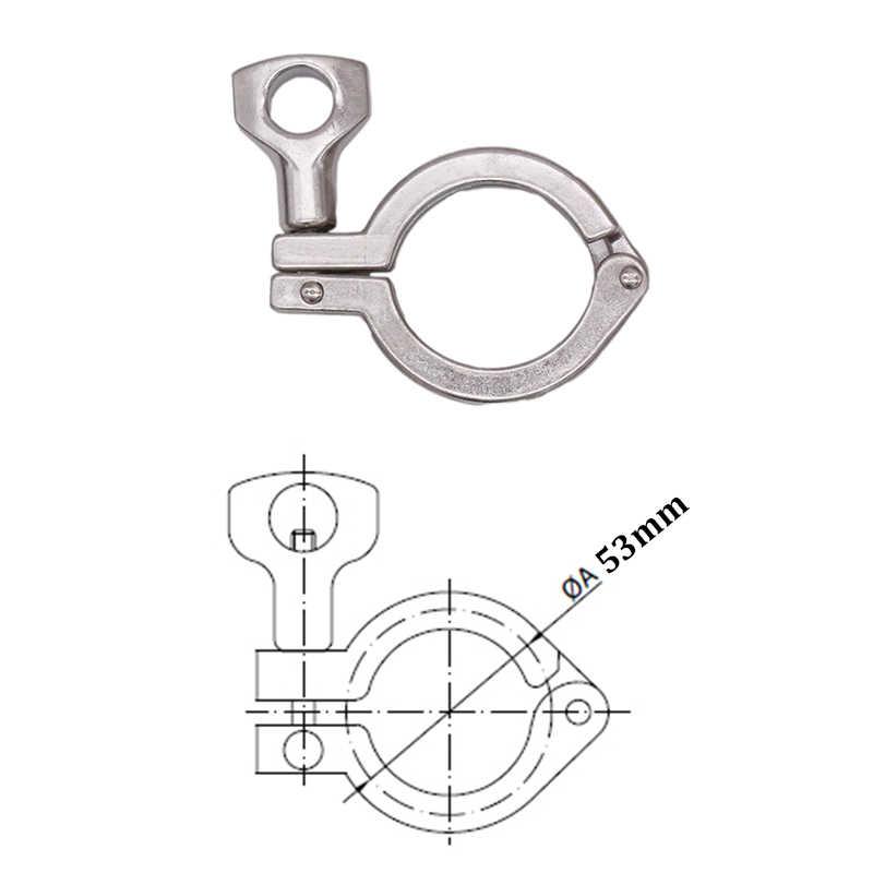"""1 """"/1.5"""" Tri-Braçadeira de Aço Inoxidável 304 3A Padrão, Trevo Homebrew Montagem"""
