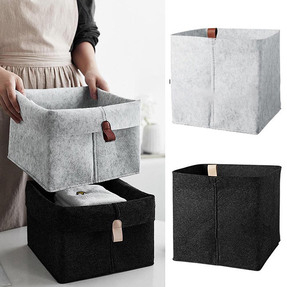 Felt Storage Box Multifunctional Environmental Protection Clothing Cosmetics Sundries Non-woven Storage Basket Home Organizer
