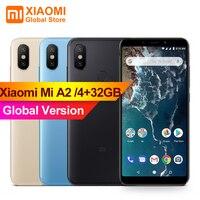 Глобальная версия Xiaomi Mi A2 4 Гб ОЗУ 32 Гб ПЗУ фаблет Snapdragon 660 восьмиядерный смартфон 20MP камера Bluetooth 5,0 xiami xiomi