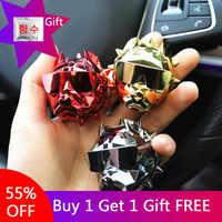 Popular Bulldog Car Perfume Clip de fragancia de ventilación automática ambientador Perfume Parfum Bulldog difusor coche Decoración