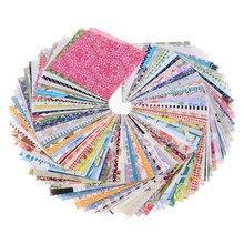 Boneca de costura diy, acolchoamento, bolsas têxteis de patchwork, artesanato de tecido de algodão, quadrada de 10x10cm com 100 peças