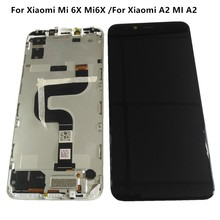 """Original 5.99""""For Xiaomi 6X Mi6X LCD Touch Screen Assembly Digitizer For Xiaomi A2 MI A2 Display With Frame/NO Frame Repair LCD"""