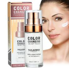 TLM Color Changing Liquid Foundation Brighten Portable Concealer Lasting and Not Easy to Swap Makeup