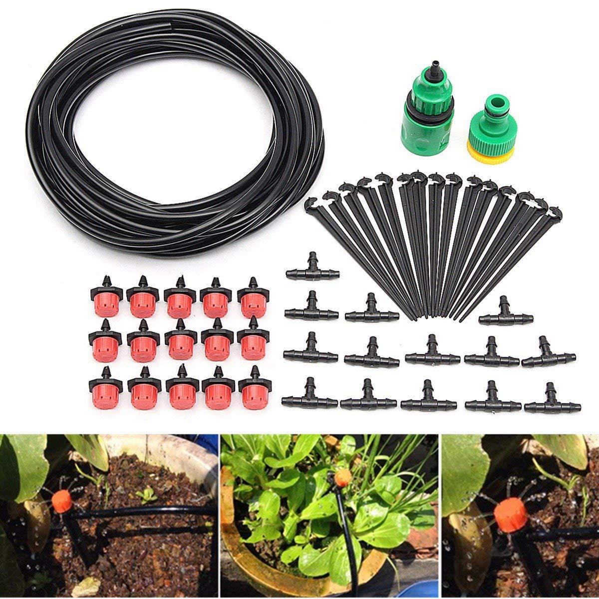 Micro-Flow Drip Watering Irrigation Kits System Self Plant Garden Hose Watering Kits 10 Metre Hose
