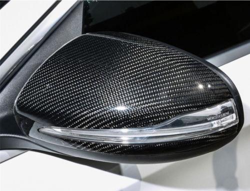 Mercedes BENZ W205 W213 W222 X253 CARBON FIBER Mirror Cover LHD W//LIGHT