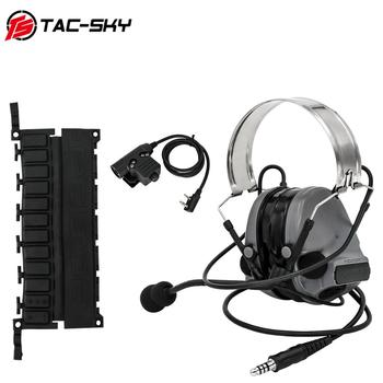 TAC-SKY Tactical Hunting Headphones COMTAC III Hearing Protection Noise Reduction Pickup Shooting Headset +Military PTT U94 PTT tac sky new comtac iii tactical hunting noise reduction pickup military shooting headset arc helmet track adapter u94 ptt fg