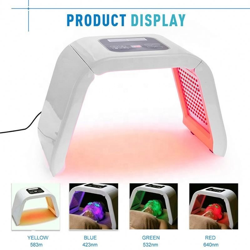 NEW Professional Photon PDT Led Light Facial Mask Machine 4 Colors Acne Treatment Face Whitening Skin Rejuvenation Light Therapy