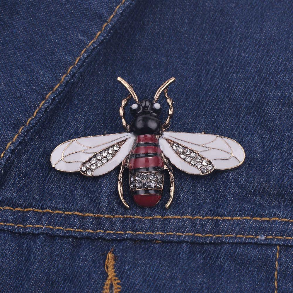 Vintage Bee Metal Bros Serangga Bros Pin Wanita & Pria Perhiasan Lucu Kecil Bumblebee Lencana Fashion Kain Dekorasi Aksesoris Hadiah
