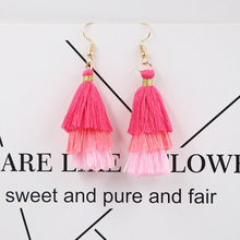 Bohemian style Tassel  Earrings Drop for Women Wedding Long Fringed Jewelry Gift