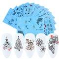 16 шт./компл. новогодний слайдер для дизайна ногтей декоративные наклейки рождественские наклейки для воды дизайнерские аксессуары для ногт...