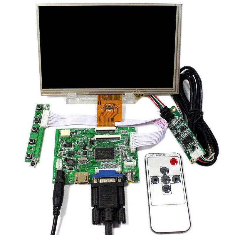 Latumab-placa controladora HDMI/VGA/AV + HE080IA-01D de 8 pulgadas, pantalla LCD IPS de alta definición de 1024x768 para Raspberry Pi