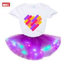 Платье для девочек Одежда с цветочным принтом и короткими рукавами;