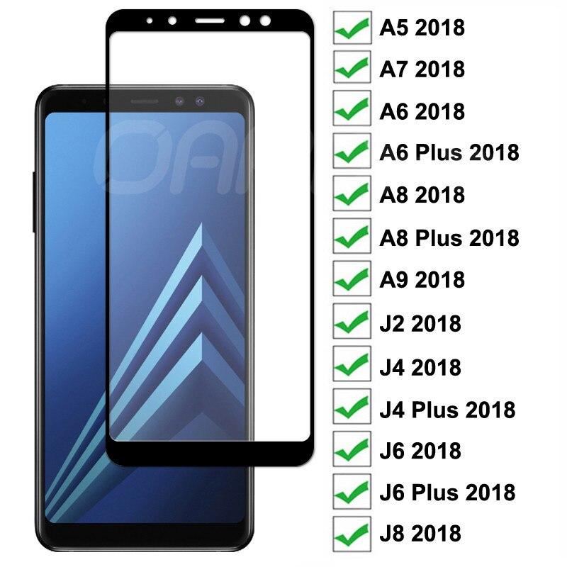 9D закаленное стекло для Samsung Galaxy A8 A6 J4 J6 Plus A5 A7 A9 J2 J8 2018 Защитная пленка для экрана|Защитные стёкла и плёнки|   | АлиЭкспресс