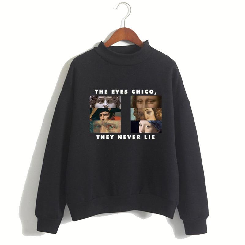 Women The Eyes Chico Then Never Lie Harajuku Luxury Brand Hoodies Female Ullzang Kpop Hoodies & Sweatshirts 90s Drop Ship