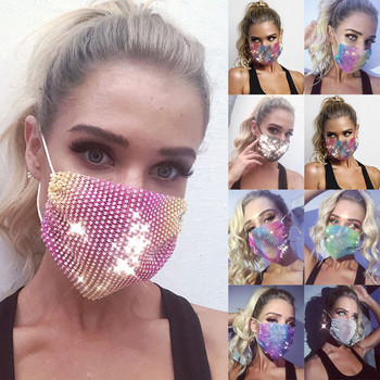 Sequins Face Mouth Mask Anti-dust Haze Flu Respirator Reusable Adult Bling Bling Face Mask Unisex Fashion Breathable Sponge Mask