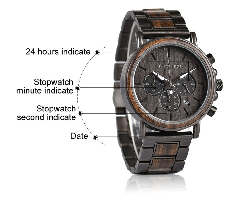 BOBO BIRD Luxury Wood Stainless Steel Men Watch Stylish Wooden Timepieces Chronograph Quartz Watches relogio masculino Gift Man H33c3c56518a8474196beda1917a42c02K