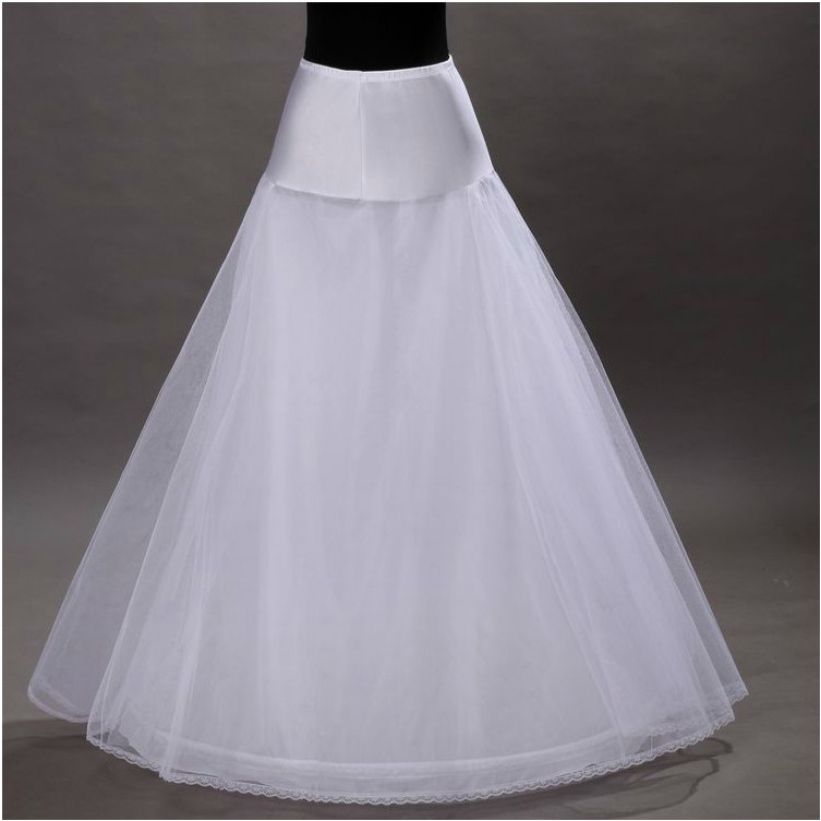 Crinoline A Pendulum Crinoline Wedding Dress Only Single Loop Corset Wedding Dress Crinoline Skirt Of Single Steel Ring 2-Layer