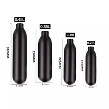 Pcp paintball airforce hpa cylinder air bottle 0.2l / 0.3l / 0.35l / 0.45l tank 300bar 4500psi m18 * 1.5