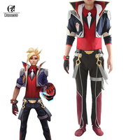ROLECOS Battle Academia Ezreal Cosplay Costume LOL Ezreal Cosplay EZ Game Costume The Prodigal Explorer Men Halloween Costume