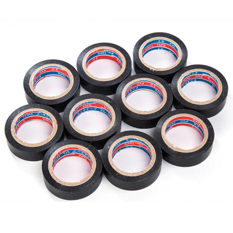 Hot 1pcs Black Tape Electrician Wire Insulation Flame Retardant Plastic Tape Waterproof Self-adhesive Tape Home Improvement 6