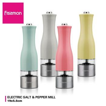 Fissman molinos eléctricos de pimienta molino de sal con amoladora de cerámica ajustable-herramientas de cocina