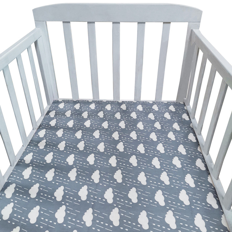 100% Cotton Soft Crib Fitted Sheet Lovely Baby Bed Linen Protector Eco-friendly Printing And Dyeing In Northern Europe Bed Sheet