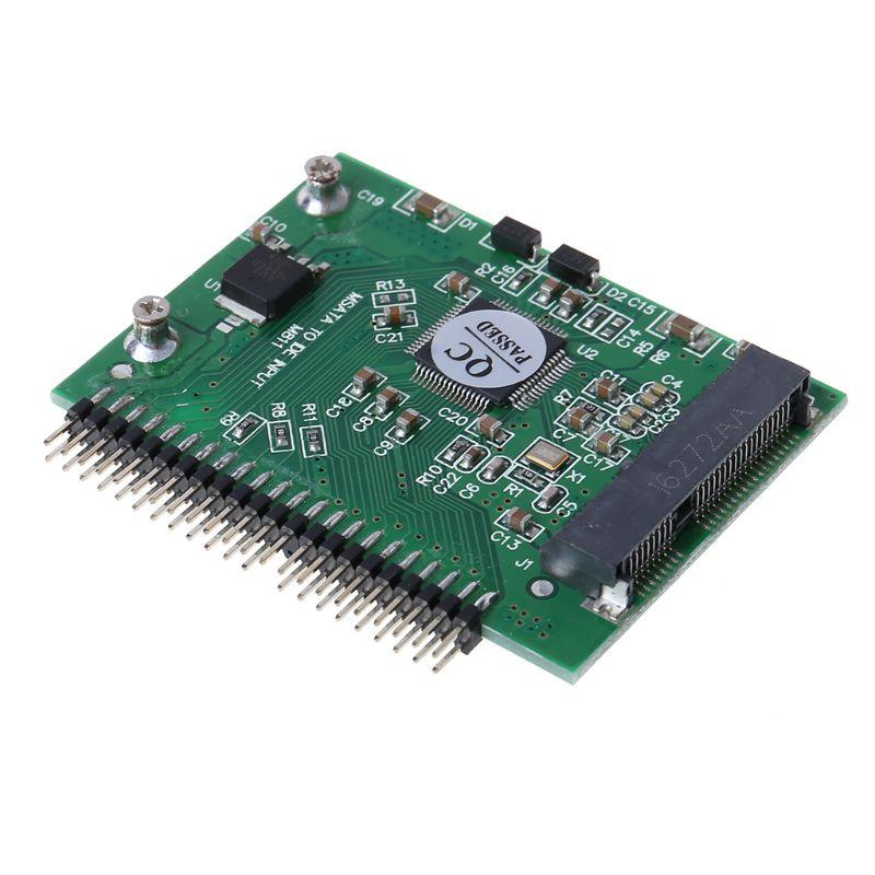 מקרנים ופלאזמות MSATA SSD דיסק קשיח ל 44 מתאם ממיר פין IDE 2.5 אינץ IDE HDD עבור מחשב נייד (2)