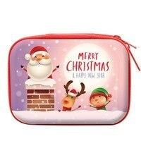 2019 frohe Weihnachten Geschenk Münze Tasche Weihnachten Ornamente für SD Karte Kopfhörer Schlüssel Brieftasche Kopfhörer Tasche Box Decor Neue Jahr auf