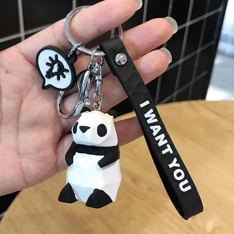 2019 Nova Criativo Keychain Bonito Dos Desenhos Animados Menina Bonito Chaveiro Animais Chaveiro Panda Menina Ornamentos Saco Homens Ou Mulheres Car Chaveiro